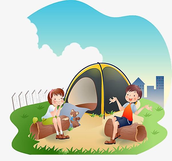 картинка про лагерь рисунок палатки того, размеру меньше